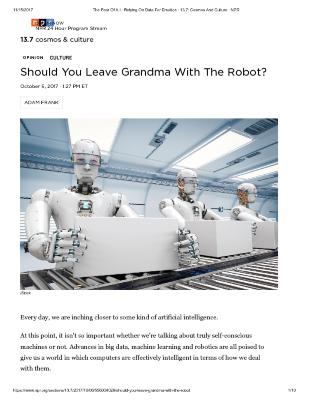 Should You Leave Grandma With The Robot?