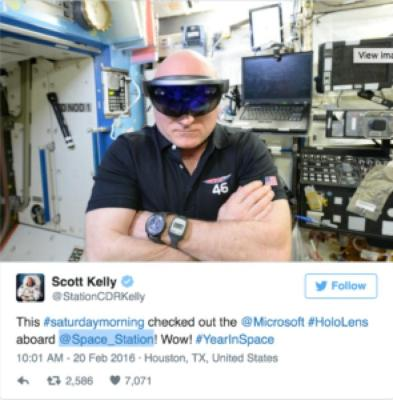 HOLOLENS: ASTRONAUTS USE AR/VR FOR WORK & PLAY