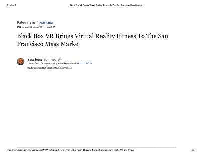 Black Box VR Brings Virtual Reality Fitness To The San Francisco Mass Market