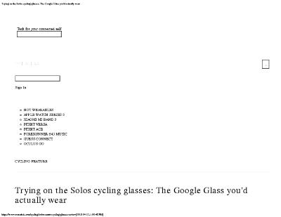 Trying on the Solos cycling glasses: The Google Glass you'd actually wear