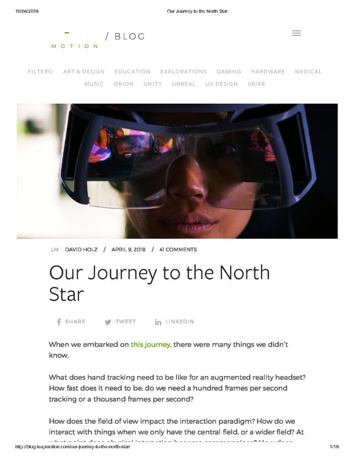 Our Journey to the North Star