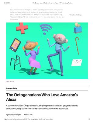 The Octogenarians Who Love Amazon's Alexa