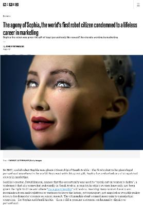 The agony of Sophia, the world's first robot citizen condemned to a lifeless career in marketing