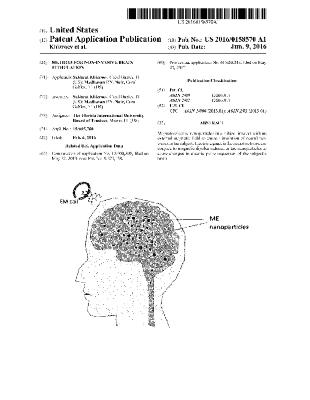 Method for non-invasive brain stimulation (Patent US 2016/0158570)