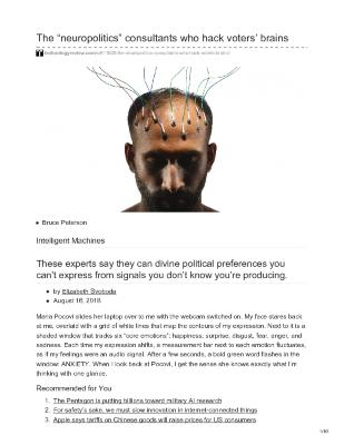"The ""neuropolitics"" consultants who hack voters' brains"