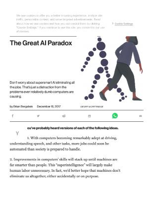 The Great AI Paradox