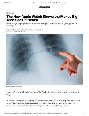 The New Apple Watch Shows the Money Big Tech Sees in Health