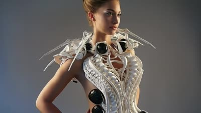 Robotic Spider Dress [Intel Edison based] // 2015 teaser