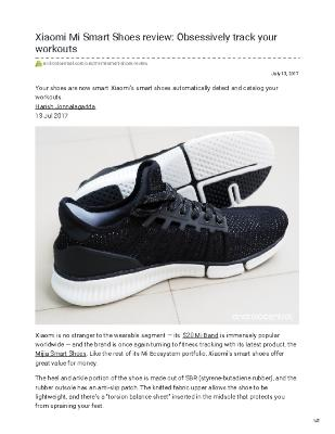 Xiaomi Mi Smart Shoes review: Obsessively track your workouts