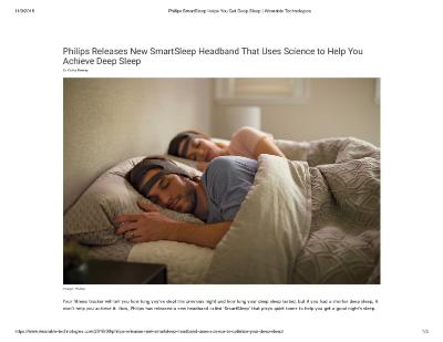 Philips Releases New SmartSleep Headband That Uses Science to Help You Achieve Deep Sleep