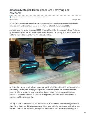 Jetson's Motokick Hover Shoes Are Terrifying and Awesome