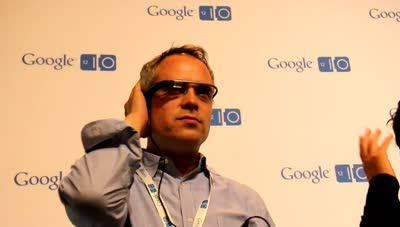 Sergey Brin explains Project Google Glass at Google I/O 2012 - Hands-on demo