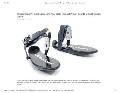 Cybershoes VR Accessory Lets You Walk Through Your Favorite Virtual Reality Game