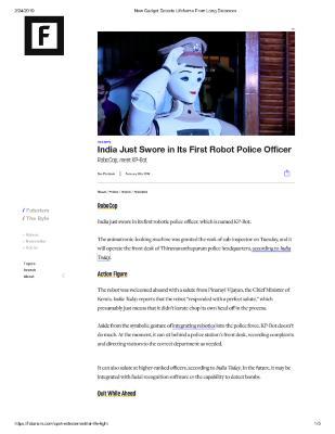 India Robot Police