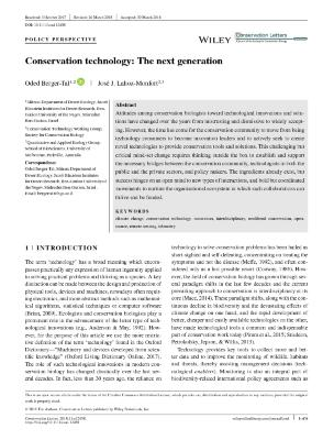 Conservation technology: The next generation