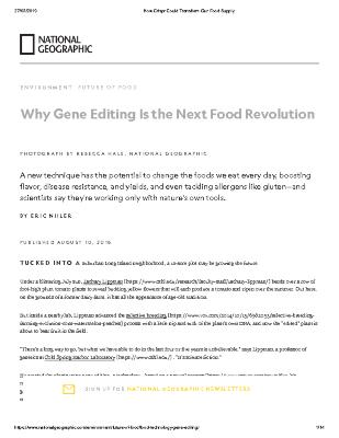 Why Gene Editing Is the Next Food Revolution