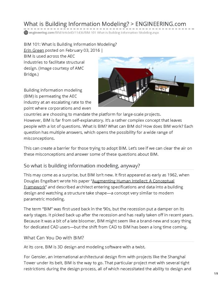 BIM 101: What is Building Information Modeling?