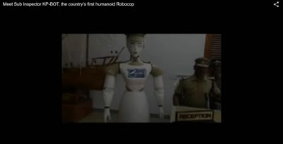 Meet Sub Inspector KP-BOT, the country's first humanoid RoboCop