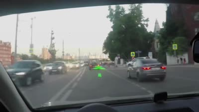WayRay Navion - the first holographic car navigation in action