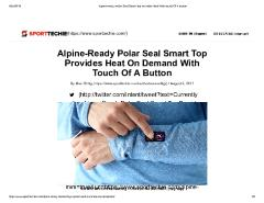 Alpine-Ready Polar Seal Smart Top Provides Heat On Demand With Touch Of A Button