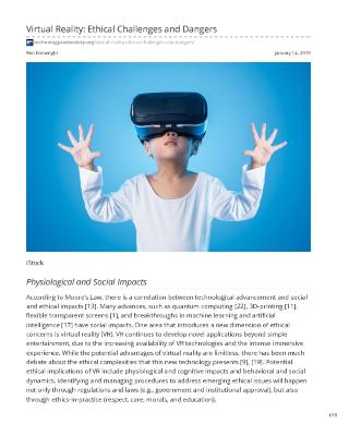Virtual Reality: Ethical Challenges and Dangers