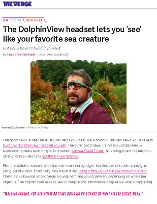 The DolphinView headset lets you 'see' like your favorite sea creature