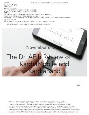 The Dr. AFib Review of the KardiaMobile and KardiaBand