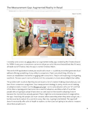The Measurement Gap: Augmented Reality In Retail