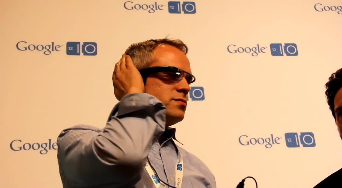 Sergey Brin explains Project Google Glass at Google I/O 2012 - Hands-on demo