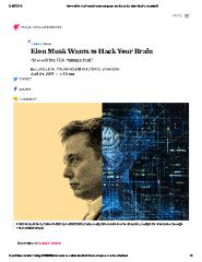 Elon Musk Wants to Hack Your Brain