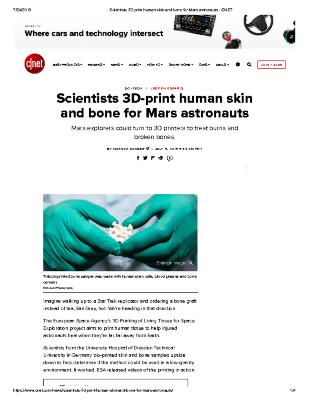 Scientists 3d Print Skin