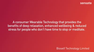 The story of Sensate from BioSelf Technology