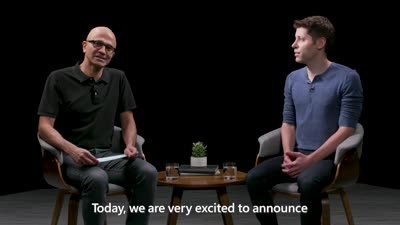Satya Nadella and Sam Altman discuss Microsoft and OpenAI partnership