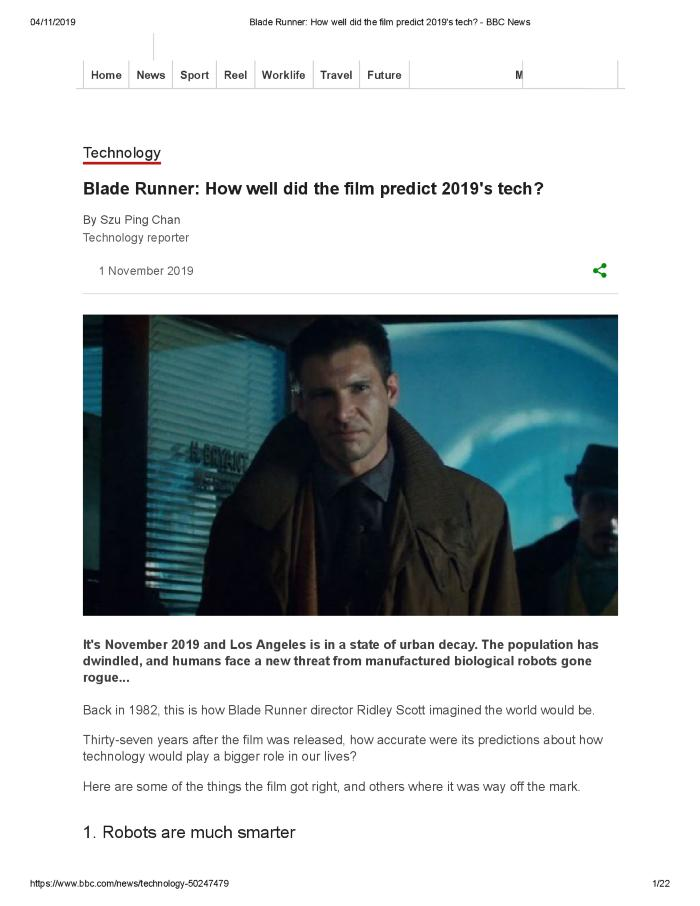 Blade Runner: How well did the film predict 2019's tech?