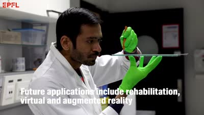 Artificial skin could help rehabilitation and enhance virtual reality (video)
