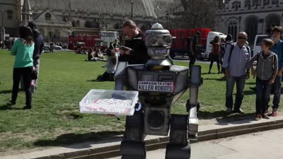 David Wreckham, our robot campaigner
