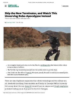 Skip the New Terminator, and Watch This Unnerving Robo-Apocalypse Instead