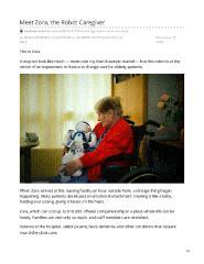 Meet Zora, the Robot Caregiver
