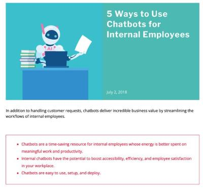 5 Ways to Use Chatbots for Internal Employees