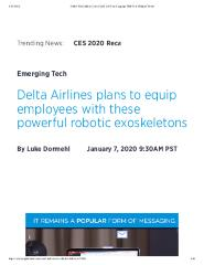 Delta Airlines plans to equip employees with these powerful robotic exoskeletons
