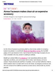 Atmos Faceware makes clean air an expensive accessory