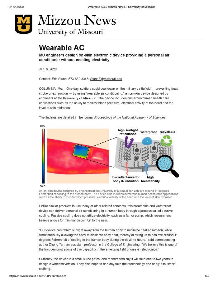 Wearable AC