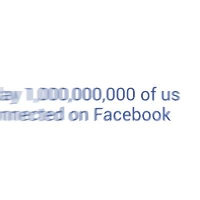 1,000,000,000 on Facebook
