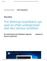 The Withings ScanWatch can spot an often-undiagnosed and very serious condition