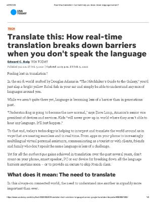 Translate this: How real-time translation breaks down barriers when you don't speak the language