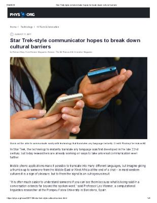 Star Trek-style communicator hopes to break down cultural barriers
