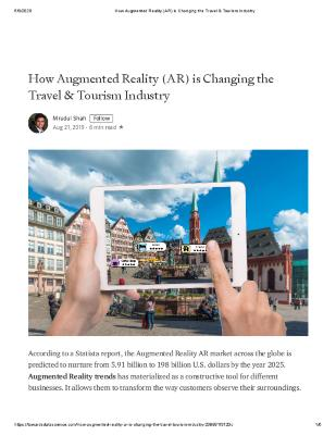 How Augmented Reality (AR) is Changing the Travel & Tourism Industry