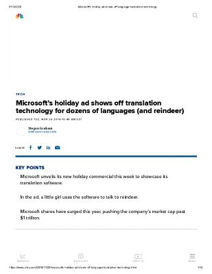Microsoft's holiday ad shows off translation technology for dozens of languages (and reindeer)