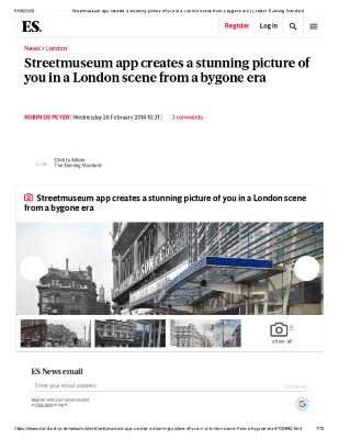 Streetmuseum app creates a stunning picture of you in a London scene from a bygone era