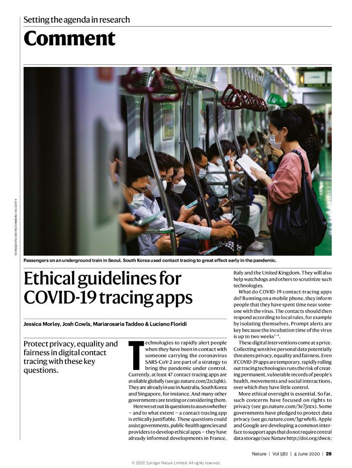 Ethical guidelines for COVID-19 tracing apps